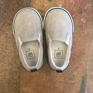 Baby Gap linen slip on shoes size 5